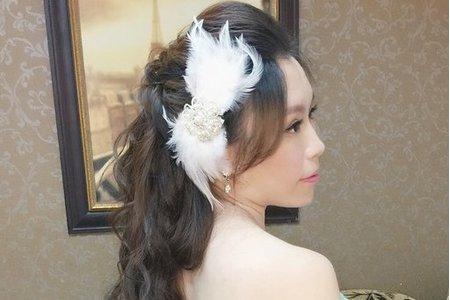 新娘佩伶-俏麗包頭、長髮公主造型