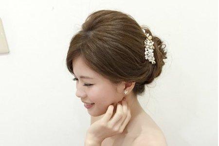 新娘欣潔-氣質、典雅、自然造型