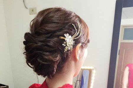 新娘伃庭-優雅低包、公主高包、韓風低馬尾