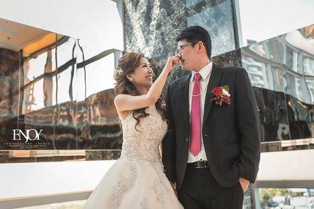 新娘惠萍-優雅氣質、線條低馬尾、公主長髮