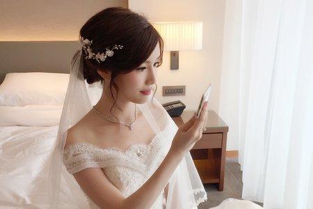 台北彭園 文定低馬尾+優雅盤髮+氣質公主頭