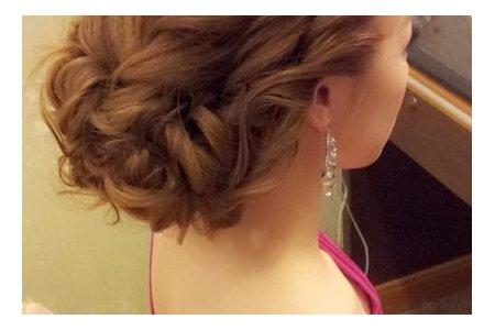 板橋喜宴軒文定造型~不規則的盤髮
