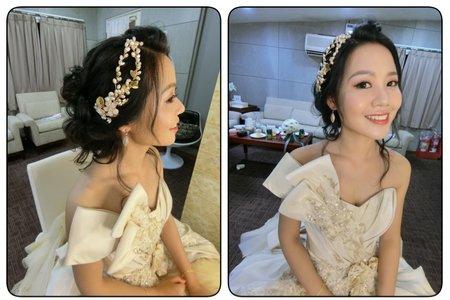 黑色細軟髮新娘