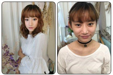 中短髮造型