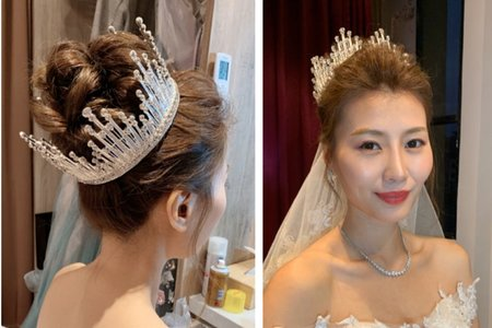 細軟髮髮量少新娘造型
