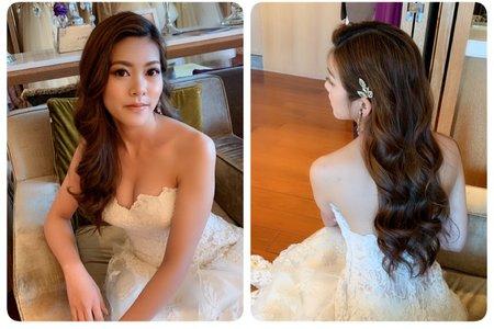 浪漫長髮造型