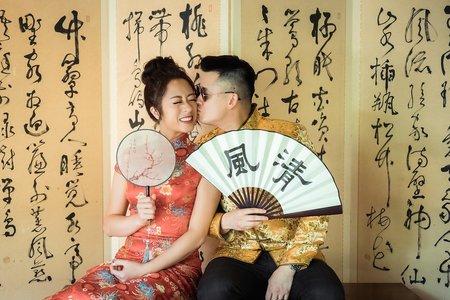 結婚/午宴/4造型/淡水春餘子