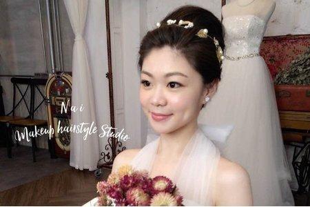 婚紗作品集-短髮新娘 盤髮/時尚油頭