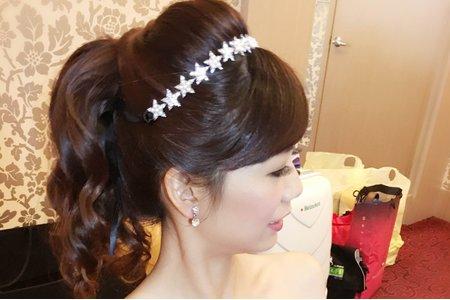 喜歡簡單自然風格的新娘兒/慈霞結婚彩妝造型紀錄