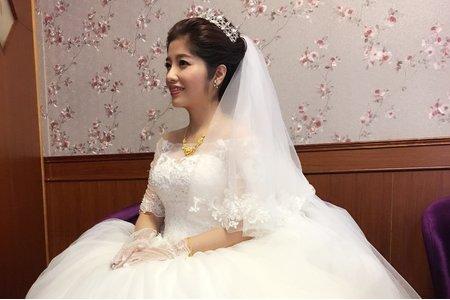 新竹新秘陳泊璇/書綺結婚造型紀錄