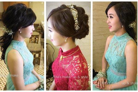新娘秘書訂婚妝髮服務