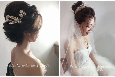 新竹新娘秘書陳泊璇Rita/玉琇結婚宴客妝髮紀錄