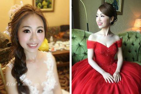 新竹新娘秘書陳泊璇Rita/莞玲結婚宴客妝髮紀錄