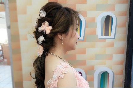 短髮新娘整體造型+嫁接假髮 (桃園午宴)