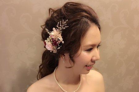 新娘 kat * 訂婚宴(手作乾燥花飾品)