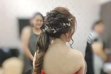 新娘*傑倫 訂+結婚宴(短髮新娘造型、嫁接假髮)