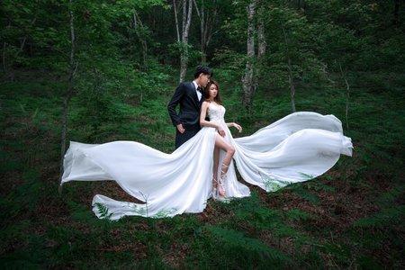 森系婚紗/森林裡的女神與小仙女都來了😍