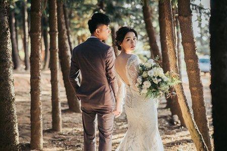 美式婚紗照|自然、森林、海邊、逆光