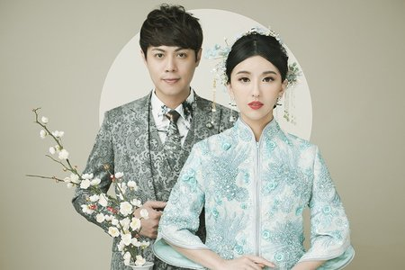 中式婚紗照|龍鳳掛、旗袍婚紗、中式禮服