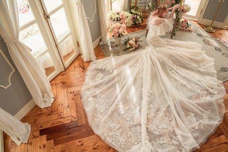 Ginger訂製手工婚紗-白紗款式