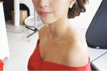 Bride汪 線條側盤髮