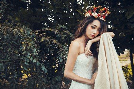 克蕾絲手工婚紗 pre wedding 禮服創作