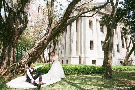 克蕾絲手工婚紗 pre wedding 廈門新人 (來台唸書 台灣拍婚紗照)