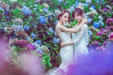 克蕾絲 姊妹婚紗 pre wedding