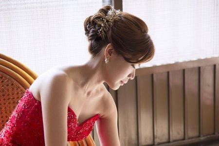 新秘Vicky Li ★婚宴新秘--文定造型