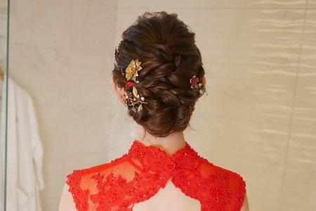 紅色晚禮服婚宴造型