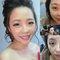 這是個過程~新娘水腫的臉~我們用保養+拉提的手技~讓膚色堤亮~消除臉狹浮腫~載運用彩妝修容技巧~呈現透亮皮膚~明亮大眼睛