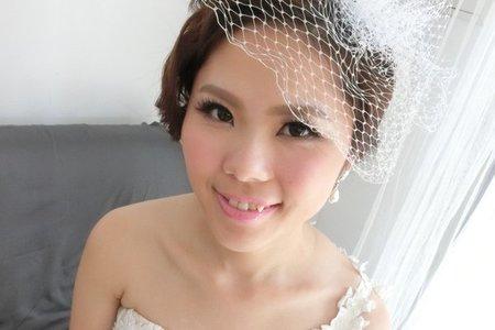 韓式輕透彩妝 X 甜美歐風白紗造型