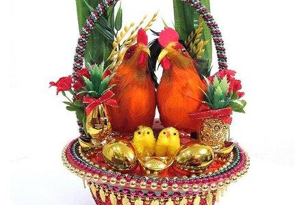 金蔥籃帶路雞