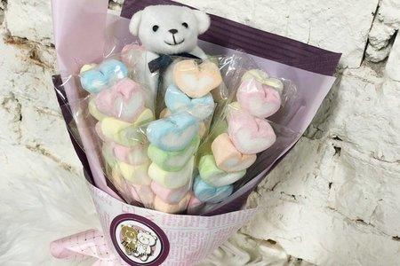 棉花糖小熊花束