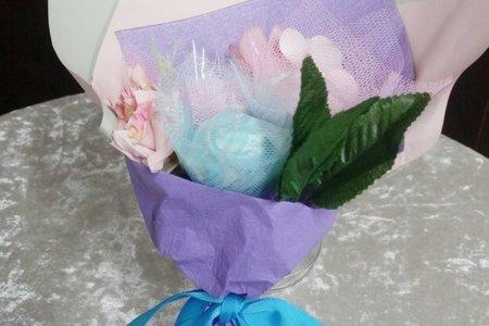馬林糖網紗仿真花束