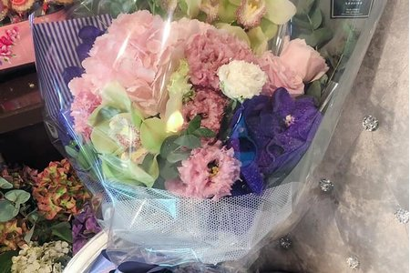粉紫色系花束