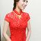 紅蕾絲旗袍,低盤氣質馬尾,意珊,基隆自宅(編號:305442)