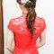 紅蕾絲旗袍,低盤氣質馬尾,意珊,基隆自宅(編號:305445)