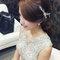 嬰兒粉鑲鑽雪紡紗_韓式低馬尾_魚兒(編號:305451)