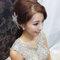 嬰兒粉鑲鑽雪紡紗_韓式低馬尾_魚兒(編號:305454)