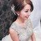 嬰兒粉鑲鑽雪紡紗_韓式低馬尾_魚兒(編號:305458)