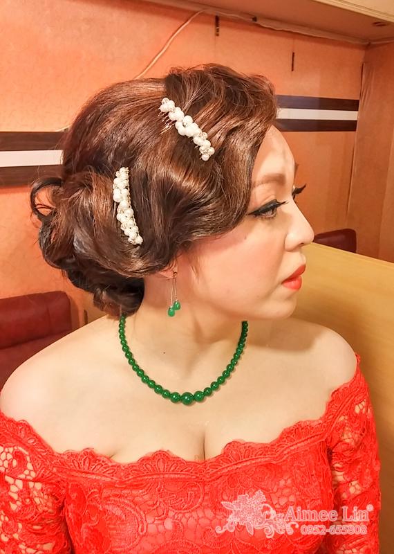 紅蕾絲旗袍禮服.復古指推波.送客(編號:418848) - 新秘愛咪Aimee Makeup《結婚吧》
