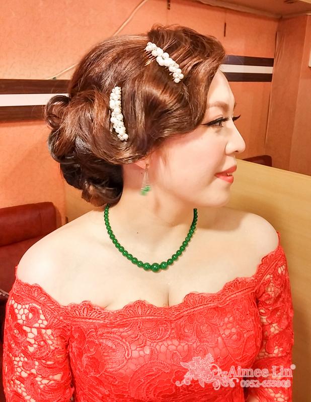 紅蕾絲旗袍禮服.復古指推波.送客(編號:418853) - 新秘愛咪Aimee Makeup《結婚吧》