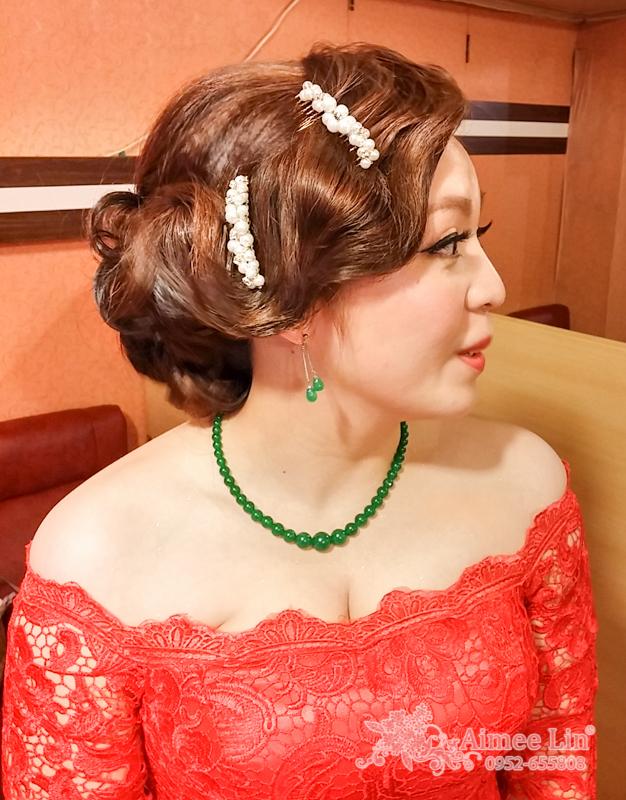 紅蕾絲旗袍禮服.復古指推波.送客(編號:418857) - 新秘愛咪Aimee Makeup《結婚吧》