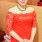 紅蕾絲旗袍禮服.復古指推波.送客(編號:418863)