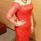 紅蕾絲旗袍禮服.復古指推波.送客(編號:418869)