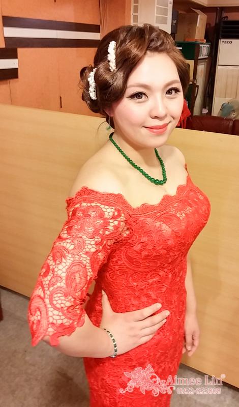 紅蕾絲旗袍禮服.復古指推波.送客(編號:418875) - 新秘愛咪Aimee Makeup《結婚吧》