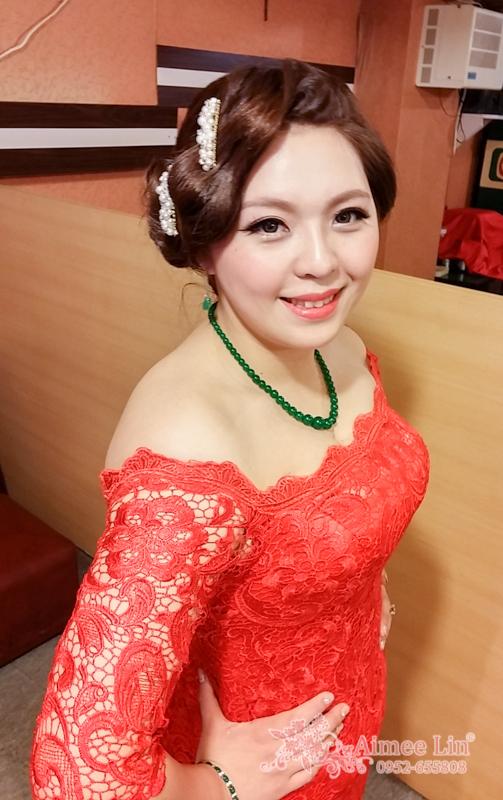紅蕾絲旗袍禮服.復古指推波.送客(編號:418886) - 新秘愛咪Aimee Makeup《結婚吧》