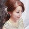 嬰兒粉鑲鑽雪紡紗_韓式低馬尾_魚兒(編號:419099)