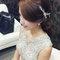 嬰兒粉鑲鑽雪紡紗_韓式低馬尾_魚兒(編號:419149)